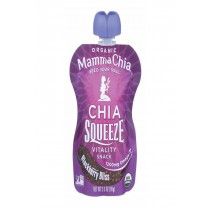 Mamma Chia Squeeze Vitality Snack - Blackberry Bliss - Case Of 16 - 3.5 Oz.