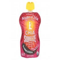 Mamma Chia Squeeze Vitality Snack - Strawberry Banana - Case Of 16 - 3.5 Oz.