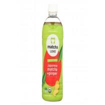 Matcha Love Drink - Organic - Matcha And Ginger - Case Of 12 - 15.9 Fl Oz