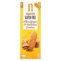 Nairn's Oatmeal Ginger Cookie Gluten - Ginger - Case Of 12 - 5.64 Oz.