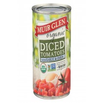 Muir Glen Diced Tomatoes With Garlic And Onion - Tomato - Case Of 12 - 14.5 Oz.