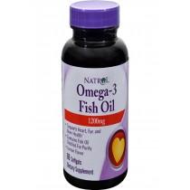 Natrol Omega-3 Fish Oil Lemon - 1200 Mg - 60 Softgels