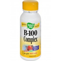 Nature's Way Vitamin B-100 Complex - 100 Capsules