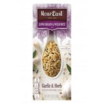 Near East Long Grain & Wild Rice - Garlic - Case Of 12 - 5.9 Oz