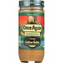 Once Again Cashew Butter - Organic - Creamy - 16 Oz - Case Of 12