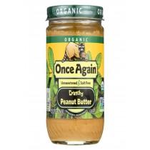 Once Again Organic No Salt Butter - Peanut - Case Of 12 - 16 Oz.