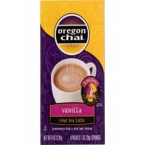 Oregon Chai Chai Tea Latte Mix - Vanilla - Powedered - 8 Count - Case Of 6