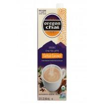 Oregon Chai Tea Latte Concentrate - Salted Caramel - Case Of 6 - 32 Fl Oz.