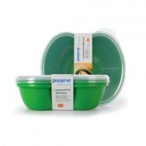 Preserve Square Food Storage Set - Green - Case Of 8 - 2 Packs