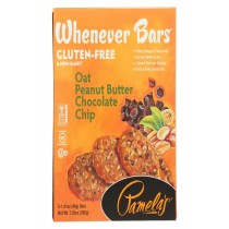 Pamela's Products Whenever Bars Chocolate Chip - Peanut Oat Butter - Case Of 6 - 7.05 Oz.