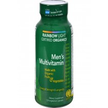 Rainbow Light Certified Organics Men's Multivitamin - 120 Vegetarian Capsules
