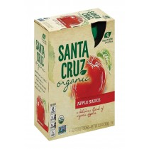 Santa Cruz Organic Apple Sauce - Case Of 6 - 3.2 Oz.