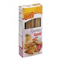 Suzie's Flat Bread - Rosemary Kamut - Case Of 12 - 4.5 Oz.
