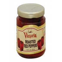 Victoria Red Roasted Peppers - Case Of 12 - 7.5 Oz.