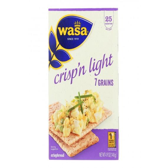 Wasa Crispbread Crisp 'n Light 7 Grain Crackerbread - Case Of 10 - 4.9 Oz.
