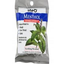 Zand Menthol Herbalozenge Soothing Menthol - 15 Lozenges - Case Of 12