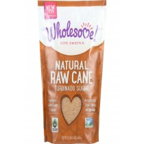 Wholesome Sweeteners Sugar - Natural Raw Cane - Turbinado - Fair Trade - 1.5 Lb - Case Of 12