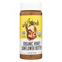 Wild Friends Sunflower Butter - Organic Honey - Case Of 6 - 16 Oz.