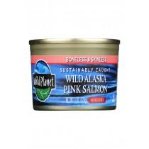 Wild Planet Wild Alaskan Pink Salmon - No Salt Added - Case Of 12 - 6 Oz.