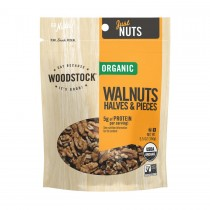 Woodstock Organic Walnuts - Halves & Pieces - Case Of 8 - 5.5 Oz.
