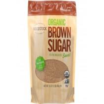 Woodstock Sugar - Organic - Brown - 16 Oz - Case Of 12