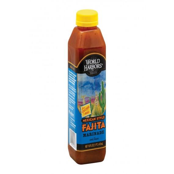 World Harbor Fajita Marinade And Sauce Mexican Style - Case Of 6 - 16 Fl Oz.