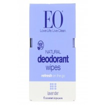 Eo Products Deodorant Wipe - Lavender - Case Of 12 - 6 Count