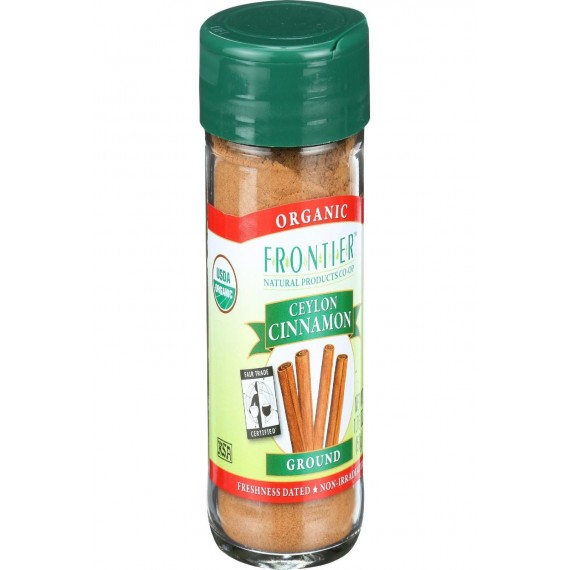 Frontier Herb Cinnamon - Organic - Fair Trade Certified - Ground - Ceylon - 1.76 Oz