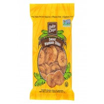 Inka Crops Plantain Chips - Sweet - Case Of 12 - 3.25 Oz.