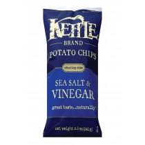 Kettle Brand Potato Chips - Sea Salt And Vinegar - Case Of 12 - 8.5 Oz.