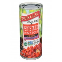 Muir Glen Diced Tomatoes Roasted Garlic - Tomato - Case Of 12 - 14.5 Oz.