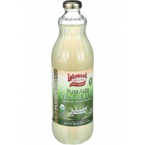 Lakewood Organic Aloe Juice - Whole Leaf - Fresh Pressed - With Lemon - 32 Oz
