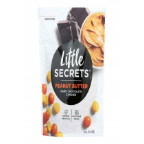 Little Secrets Dark Chocolate Candies - Peanut Butter - Case Of 8 - 5 Oz.