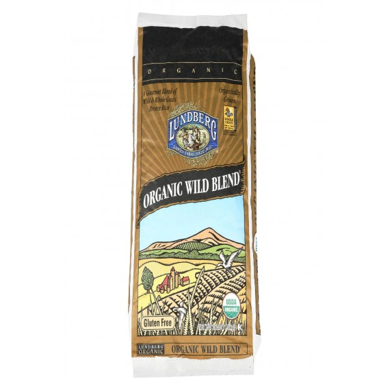 Lundberg Family Farms Organic Wild Blend Gourmet Brown Rice - Case Of 25 - 1 Lb.