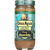 Once Again Almond Butter - Organic - Lightly Toasted - Creamy - 16 Oz - Case Of 12