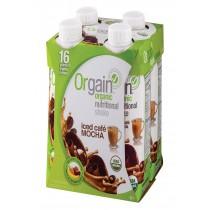 Orgain Organic Nutritional Shake - Iced Caf Mocha - Case Of 3 - 11 Fl Oz.