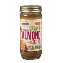 Woodstock Organic Almond Butter - Lightly Toasted - Unsalted - 16 Oz.