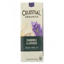 Celestial Seasonings Tea - Organic - Chamomile Lavender - Case Of 6 - 20 Bag