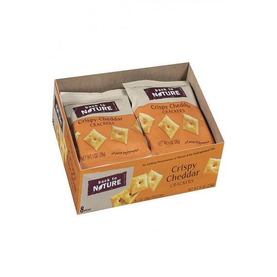 Back To Nature Crispy Cheddar Crackers - Case Of 4 - 1 Oz.