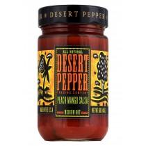 Desert Pepper Trading Medium Hot Peach Mango Salsa - Case Of 6 - 16 Oz.