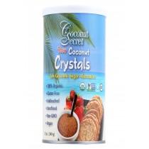 Coconut Secret Raw Crystals - Coconut - Case Of 12 - 12 Oz.