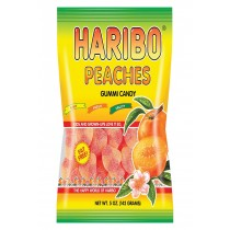 Haribo Peaches - Natural - Case Of 12 - 5 Oz.