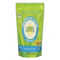 Florida Crystals Organic Powdered Sugar - Powdered Sugar - Case Of 6 - 16 Oz.