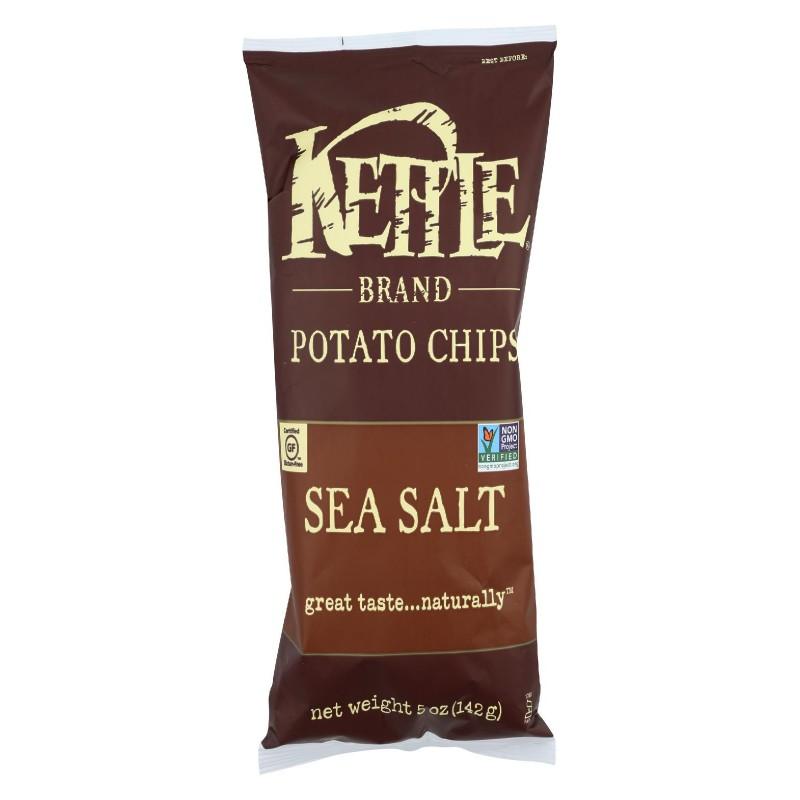 Kettle Brand Potato Chips Sea Salt Case Of 15 5 Oz