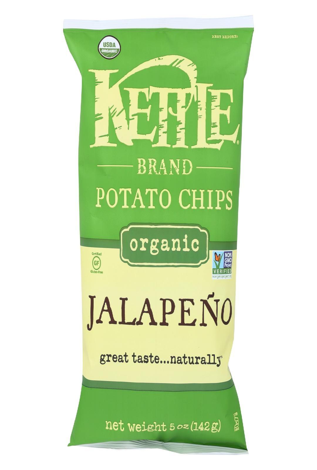 Kettle Brand Potato Chips Jalapeno Case Of 15 5 Oz