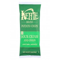 Kettle Brand Potato Chips - Sour Cream And Onion - Case Of 15 - 5 Oz.