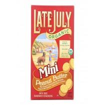 Late July Snacks Sandwich Crackers - Peanut Butter - Case Of 12 - 5 Oz.