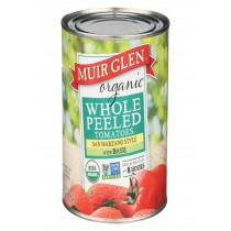 Muir Glen Peeled Whole Tomatoes With Basil - Tomatoes - Case Of 12 - 28 Oz.