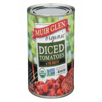 Muir Glen Organic Diced Fire Roasted Tomato - Tomato - Case Of 12 - 28 Oz.