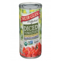Muir Glen Diced Tomatoes, Basil And Garlic - Tomato - Case Of 12 - 14.5 Oz.